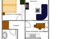 Ferienwohnung Lankowitz 2D Plan-Skizze 1. Stock