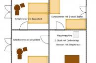 Ferienwohnung Lankowitz 2D Plan-Skizze 2. Stock