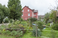 Sicht auf das Haus aus dem Garten