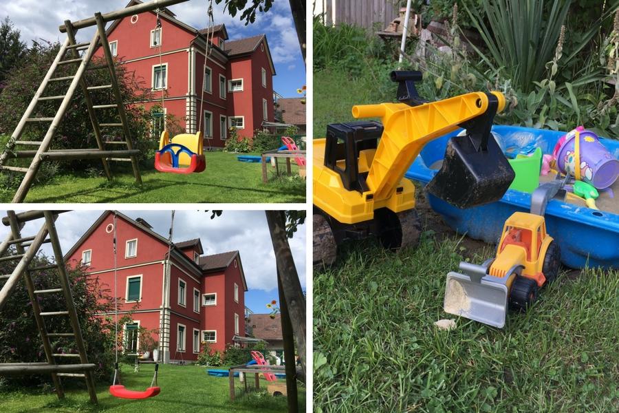 Spielzeug im garten  ferienwohnungen familie