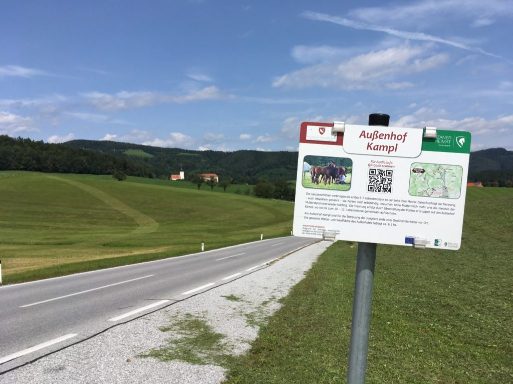 Auf dem Radweg nach Piber