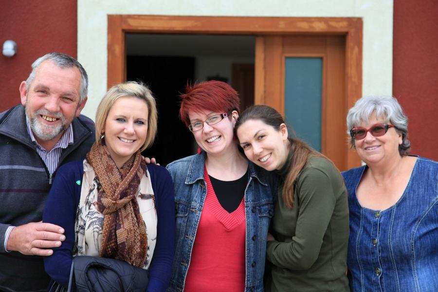 Andrea Mark auf Besuch in Köflach