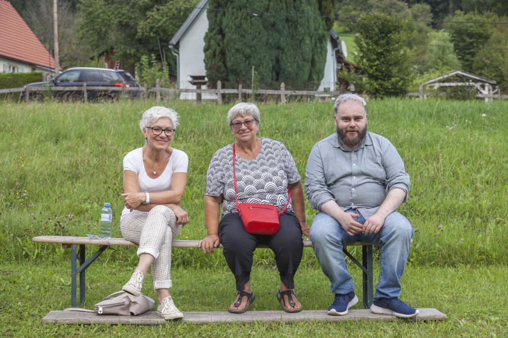Gareth zu Besuch beim Tag der Teichanlage mit Hannerl Wascher
