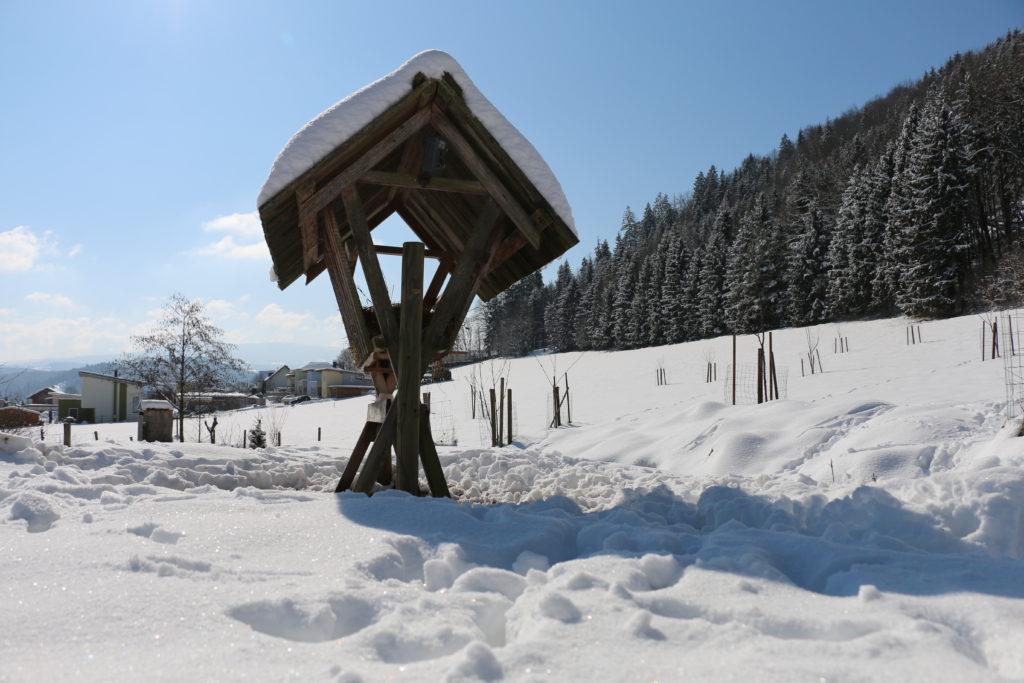 Tierfütterung im Schnee - Foto: Annika Wascher