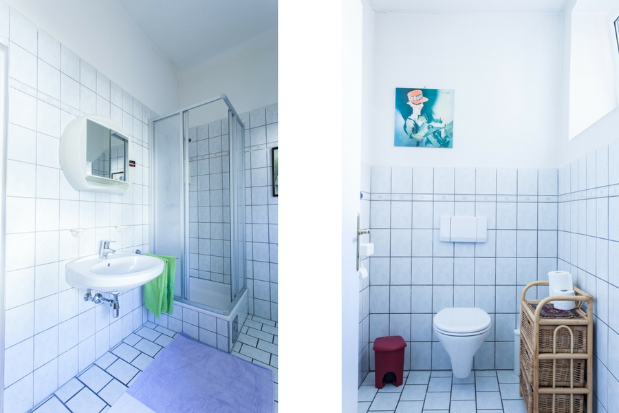 Ferienwohnung Irene Dusche und WC