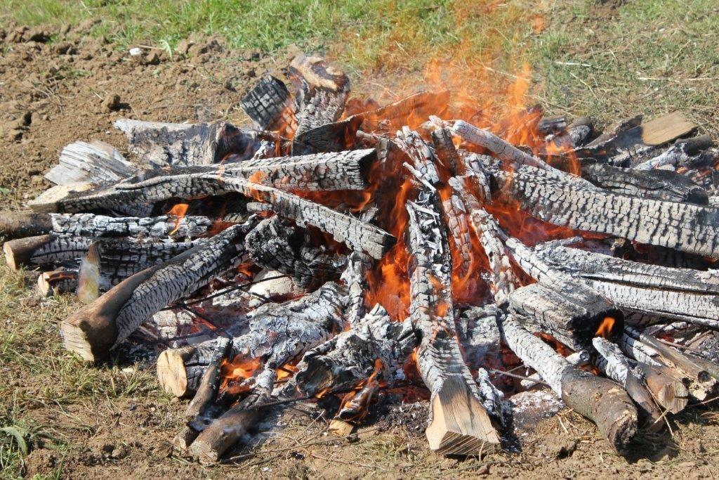 Feldbrand an der Teichanlage Wascher, Juni 2014 - Foto: Archiv Familie Wascher