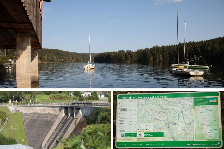 Packerstausee - Staumauer - Wanderwege und Karte - Fotos: Burchhart