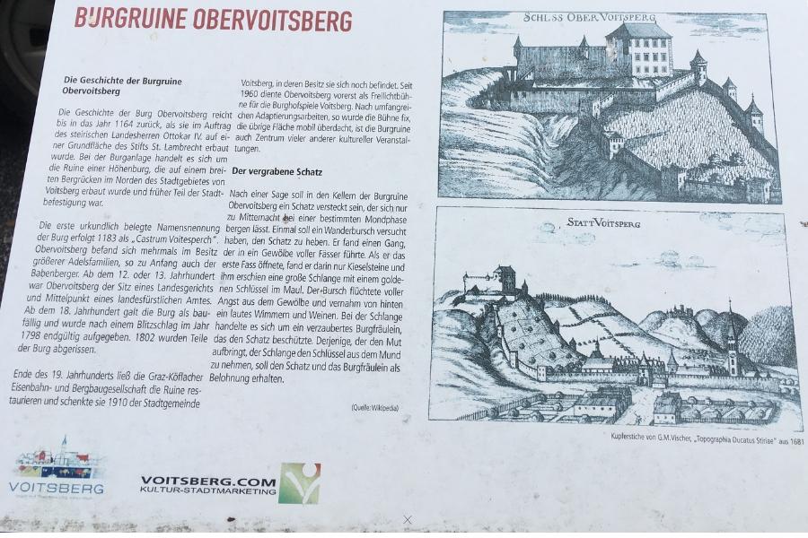 Burg Obervoitsberg - Infotafel