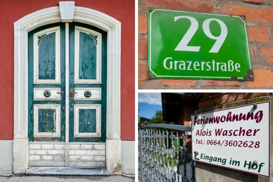 Eingang zu den Ferienwohnungen - Familie Wascher Grazerstraße 29 - im Hof