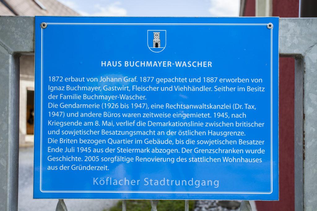 Haus Buchmayer-Wascher - Teil vom Köflacher Stadtrundgang