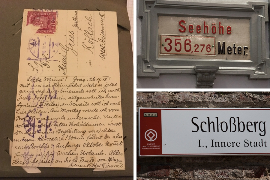Postkarte Rückseite - Schlossberg (c) Familie Wascher