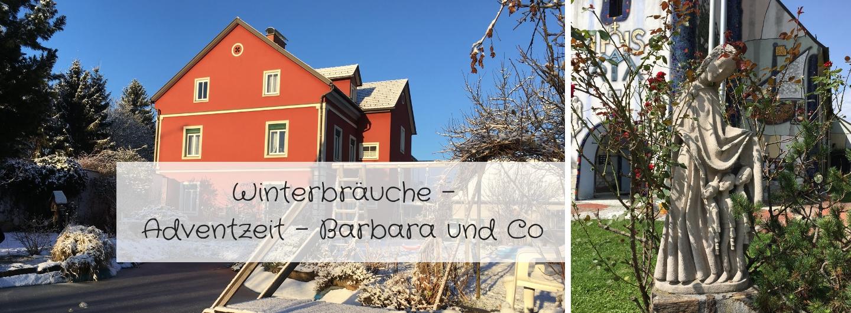 Winterbräuche - Adventzeit - Barbarazweige und Co