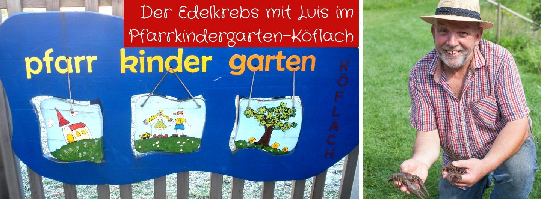 Der Edelkrebs mit Luis im Pfarrkindergarten Köflach
