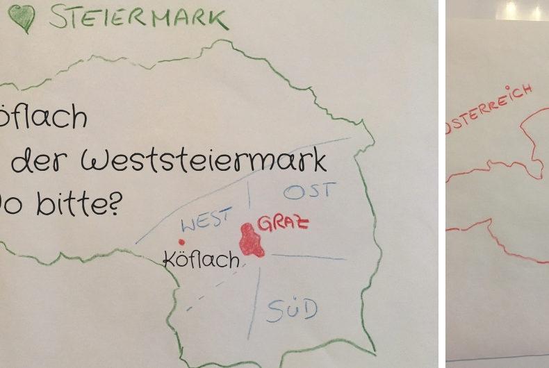 Köflach in der Weststeiermark - westlich von Graz