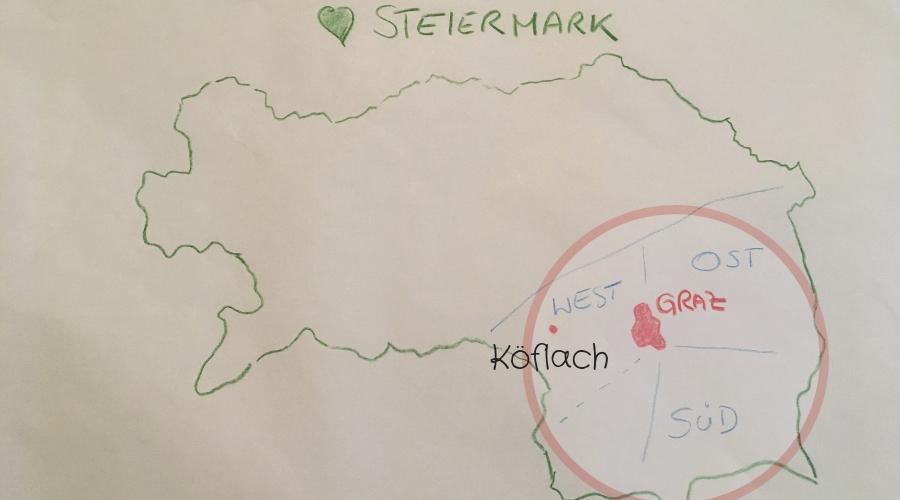 Steiermark - Styria - Weststeiermark - Köflach - Lipizzanerheimat - Skizze von Pia