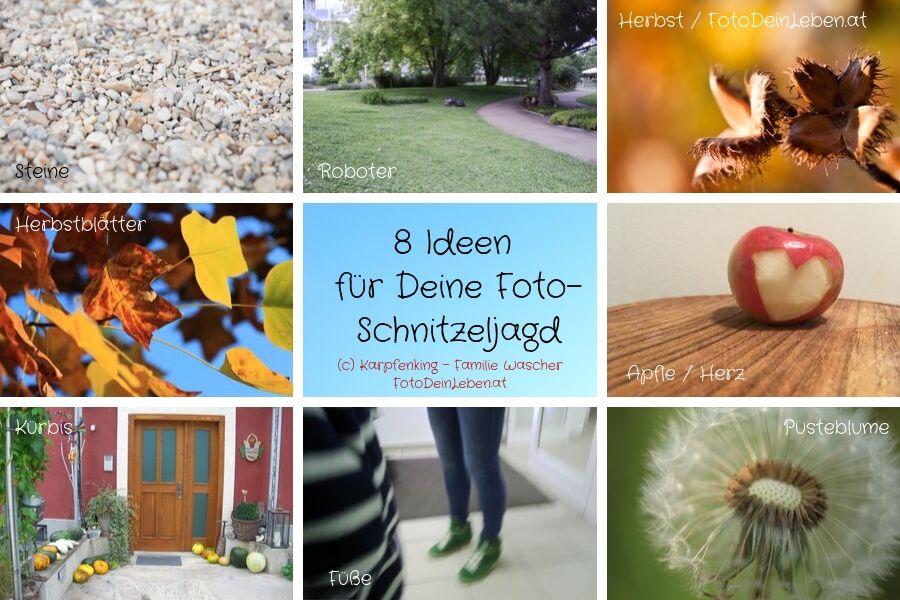 8 Ideen für Deine Fotoschnitzeljagd im Herbst mit der ganzen Familie