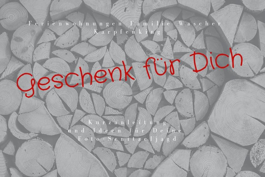 Geschenk für Dich - PDF mit Anleitung und weiteren Ideen für Deine Foto-Schnitzeljagd
