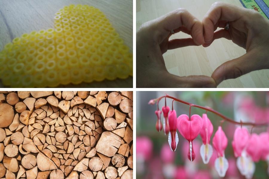 """Herz - auch hier gibt es viele unterschiedliche """"Lösungen"""" gehe mal raus und überlege wo Du ein Herz ablichten könntest"""