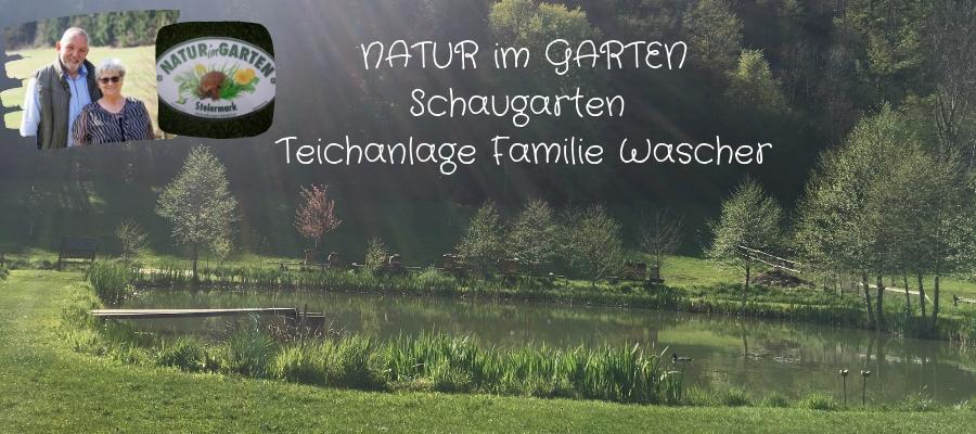 NATUR im GARTEN Schaugarten Teichanlage Familie Wascher