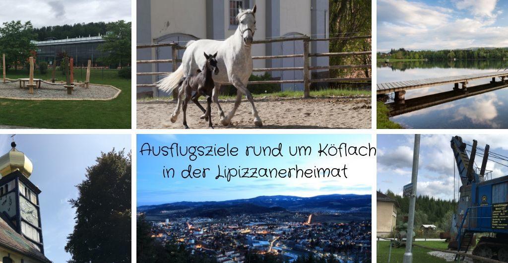 Hier werden ein paar Ausflugsziele in der Lipizzanerheimat wie z.B. Bundesgestüt Piber, Pibersteinersee, Bergbaumuseum Karl-Schacht oder Hundertwasserkirche Bärnbach gezeigt