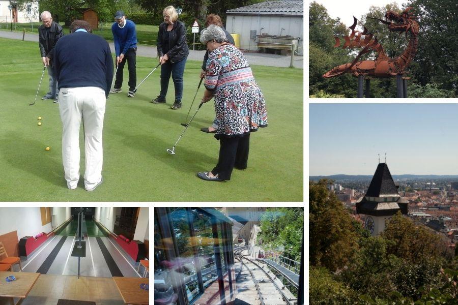 Aktivurlaub mit Wanderung durch den Energiepark, Kegeln, Golf und Ausflug auf den Schlossberg in Graz