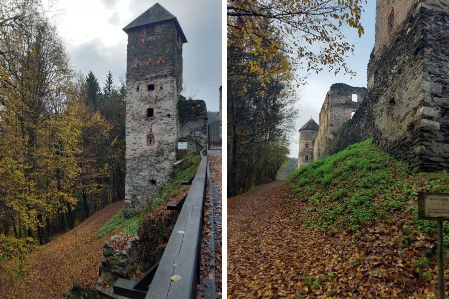 Rundgang Burgruine Krems mit Hannerl und Luis Wascher