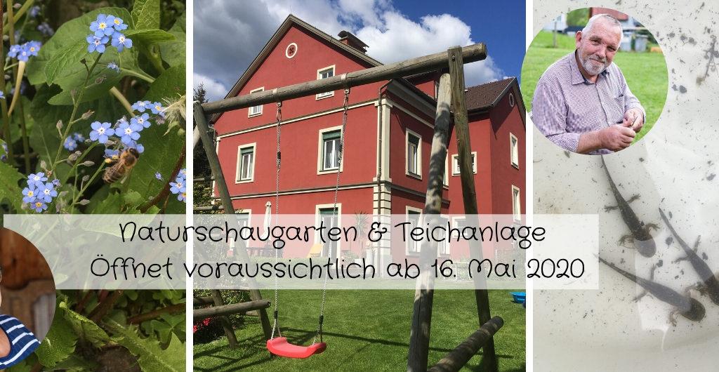 Naturschaugarten-Natur im Garten - Besuch an der Teichnalge ab 16. Mai 2020 möglich