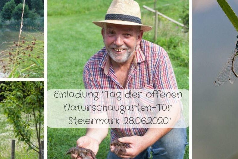 Einladung zum Tag der offenen Tür / Naturschaugarten-Tag Steiermark am 28.06.2020 - in Köflach