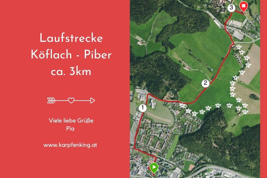 Lipizzaner Laufstrecke Köflach Piber 3km
