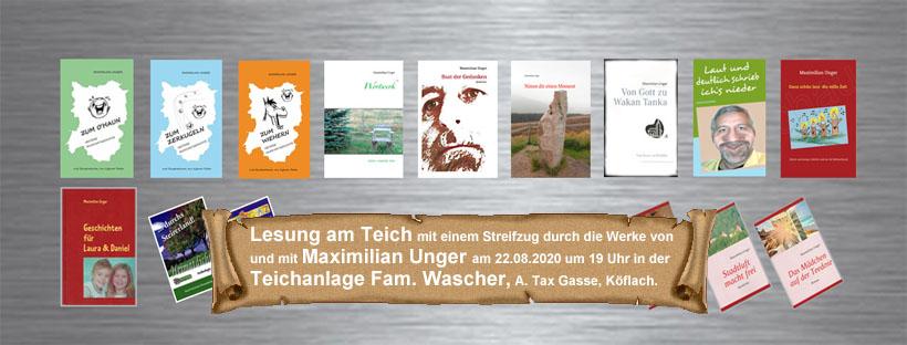 Lesung am Teich - Maximilian Unger