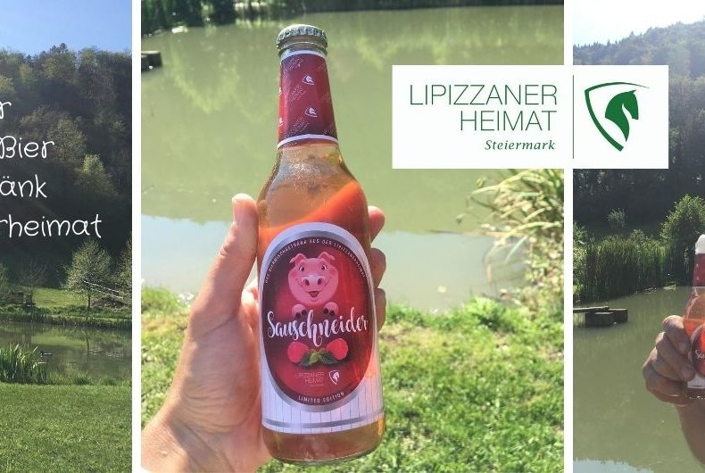 Sauschneider = Himbeerlimo&Bier = rotes Biermischgetränk aus der Lipizzanerheimat